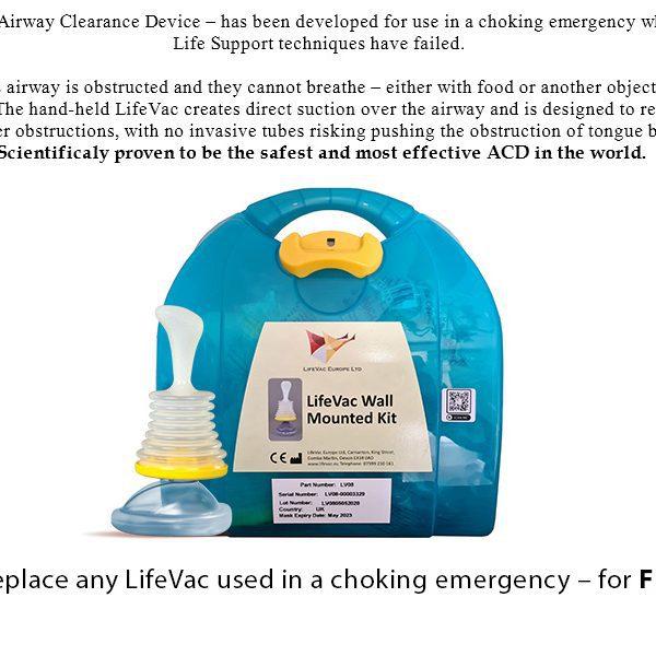 Lifevac wall mounted kit