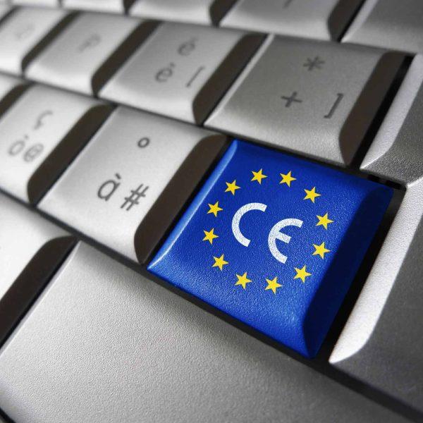 CE Logo on keyboard