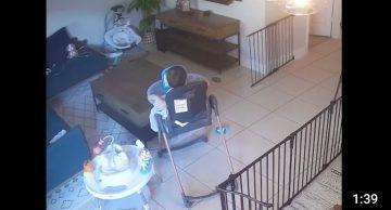 LifeVac caught on CCTV saving a life