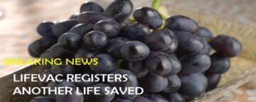 LifeVac Registers Another Life Saved